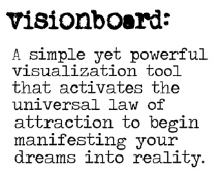 Visionboard quote
